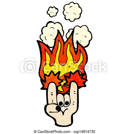 Rock Devil Horns Hand Symbol