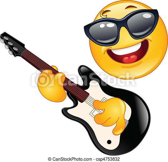 Rock emoticon - csp4753832