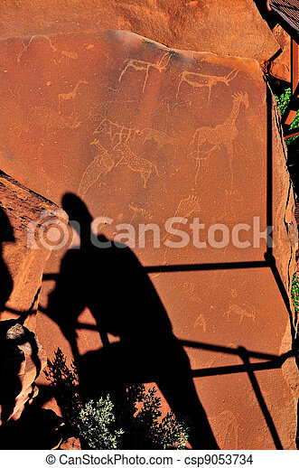Rock engravings at Twyfelfontein, Namibia - csp9053734