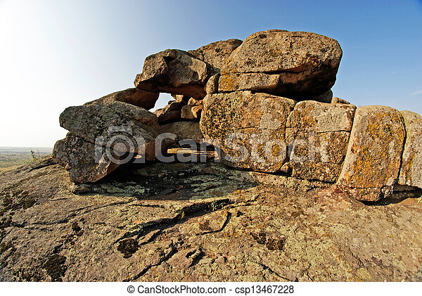 Rock erosion. Geological formations - csp13467228