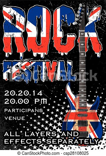 Rock festival design template - csp28108025