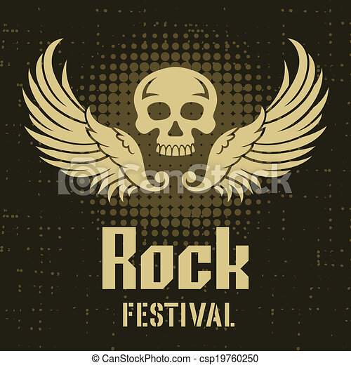 Rock Festival Poster Template - csp19760250