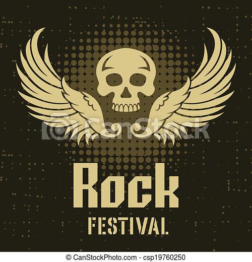 Rock Festival Poster Template - csp19760250