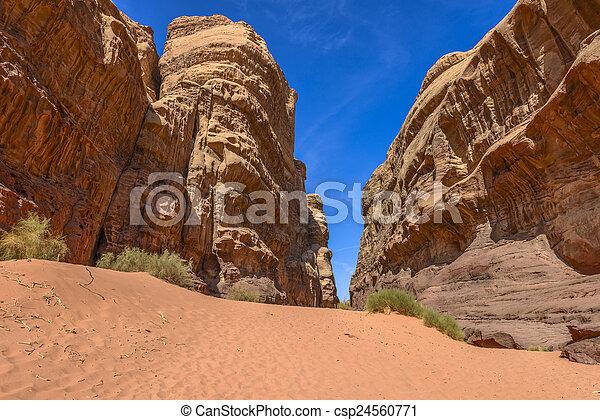 Rock Formation in Wadi Rum desert - csp24560771
