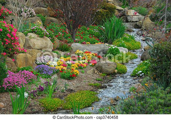 Elegant Rock Garden   Csp3740458