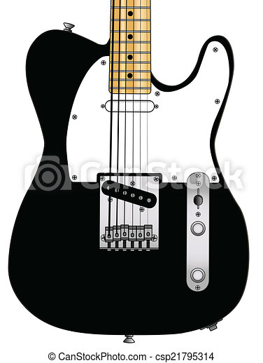 Rock Guitar Classic And Roll Body Over A White