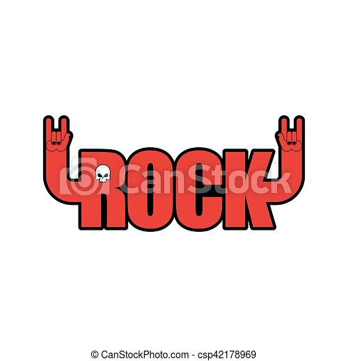 Rock Hand Symbol Of Music Rock And Roll Emblem Isolated