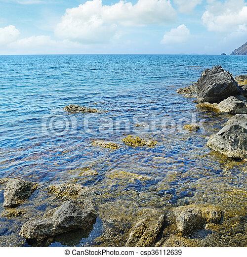 Rock in the ocean - csp36112639
