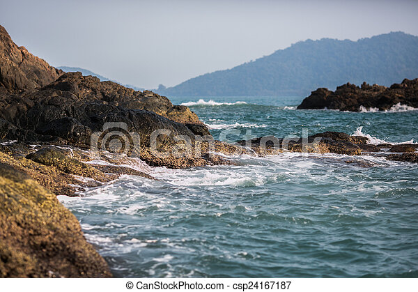 Rock in the sea - csp24167187