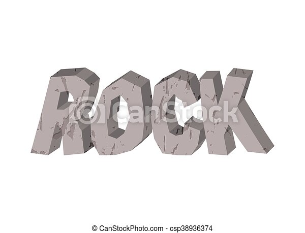 Line Art Letters : Rock lettering of stones letters from crag vectors illustration