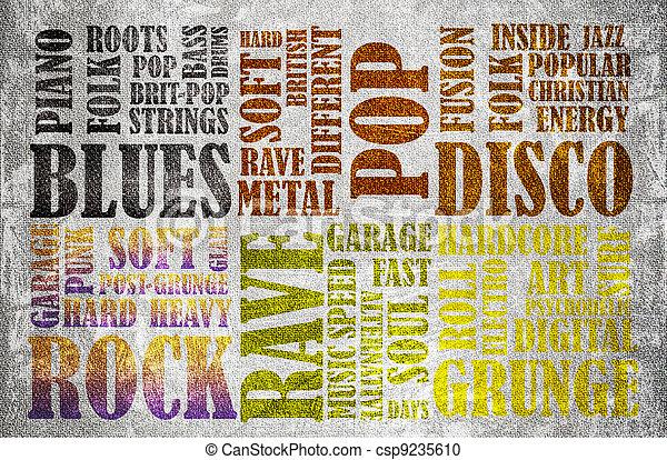 Rock Music poster - csp9235610