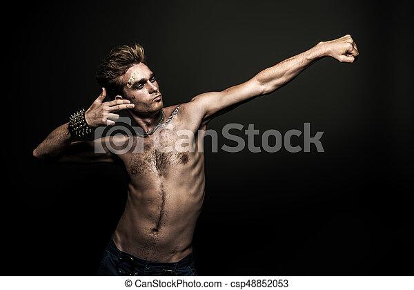 rock musician man - csp48852053