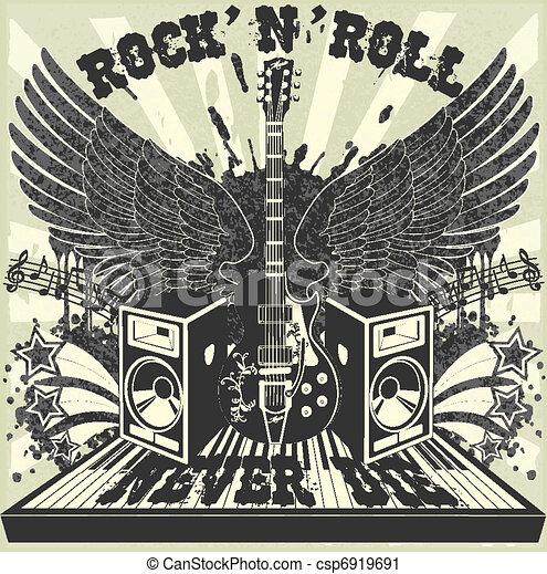Rock n Roll never die - csp6919691