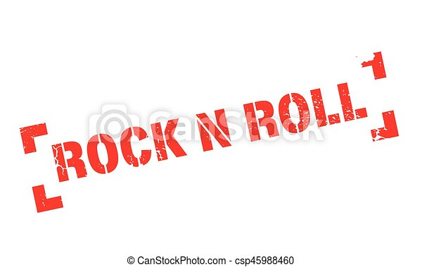 Rock N Roll rubber stamp - csp45988460
