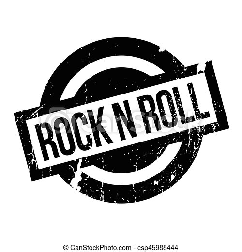 Rock N Roll rubber stamp - csp45988444
