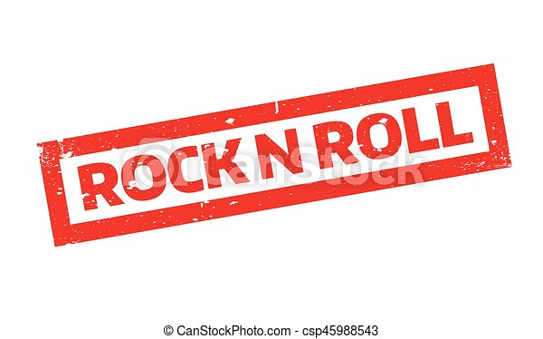 Rock N Roll rubber stamp - csp45988543