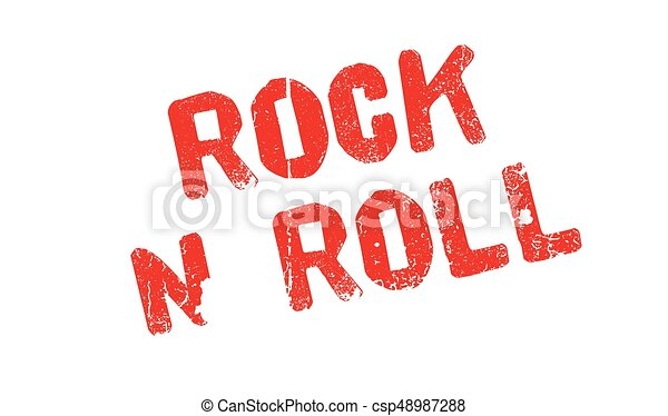 Rock N Roll rubber stamp - csp48987288