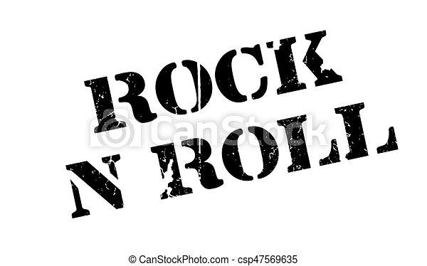 Rock N Roll rubber stamp - csp47569635