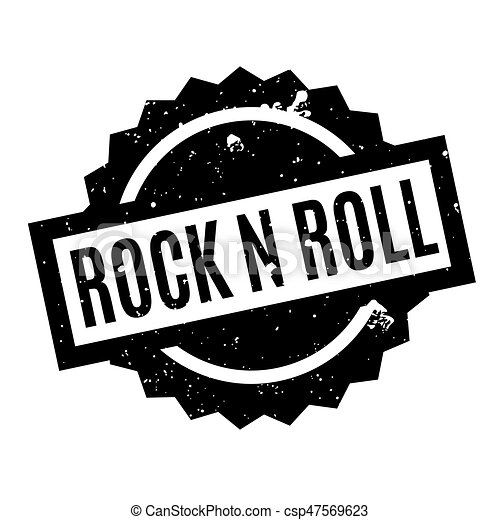 Rock N Roll rubber stamp - csp47569623