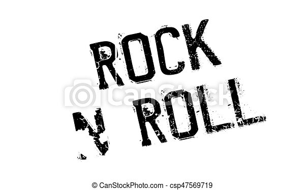 Rock N Roll rubber stamp - csp47569719