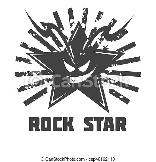 Rock Star Band Music Festival Icon Or Vector Emblem Rock Band