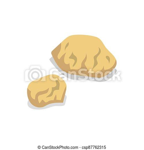 Rock stone set on white background. Vector illustration. - csp87762315