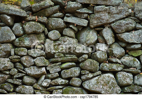 Rock wall, New England - csp1794785