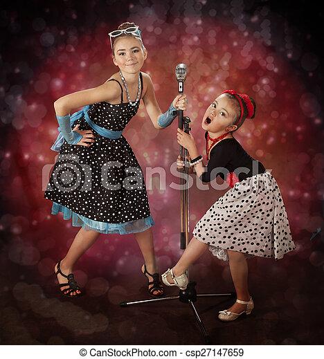 Rockabilly girls - csp27147659