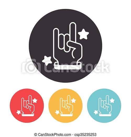 Handzeichen rocker Charm Pendant