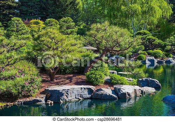 Rockery Garden and Pond - csp28696481