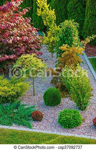 Rockery Garden Design - csp37092737