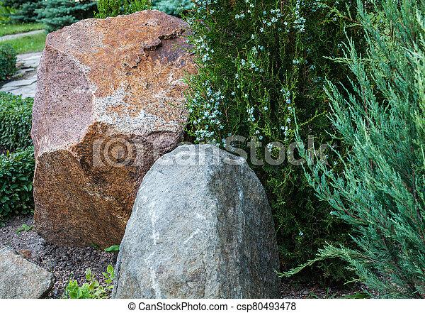 Rockery in the garden. - csp80493478