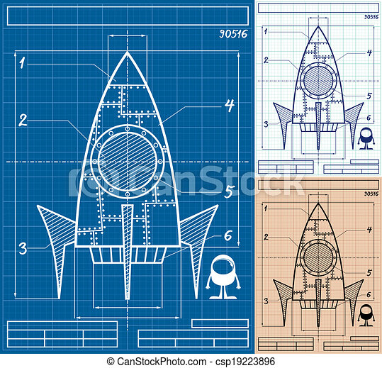 Rocket blueprint cartoon cartoon blueprint of rocket ship in 3 rocket blueprint cartoon csp19223896 malvernweather Gallery