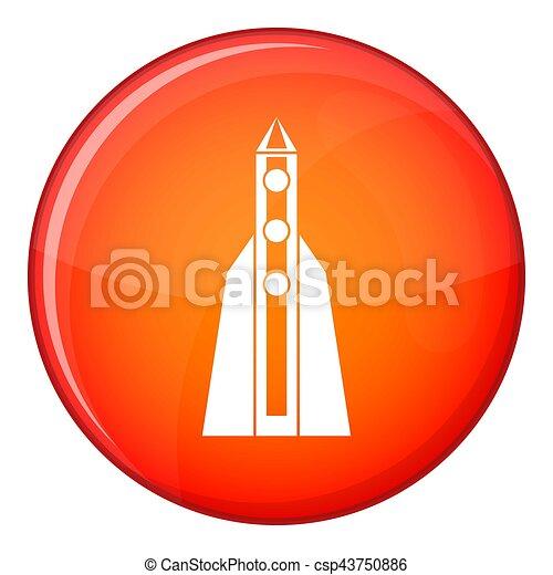 Rocket icon, flat style - csp43750886