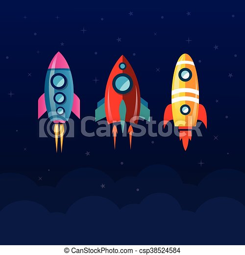 rocket space shuttle - csp38524584