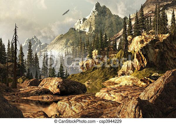 Rockies Landscape  - csp3944229