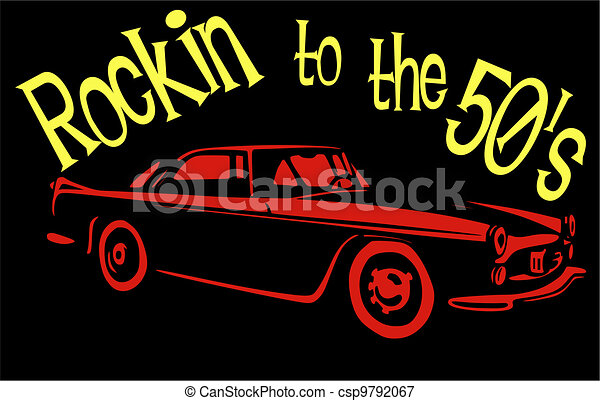Rockin to the 50's.... - csp9792067