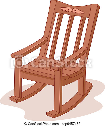 Baby Rocking Chair Clipart Illustration of a rock...
