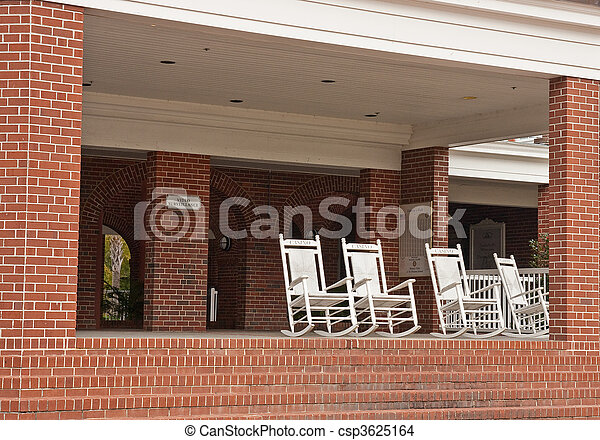 Brilliant Rocking Chairs On Porch Of Brick Casino Bralicious Painted Fabric Chair Ideas Braliciousco