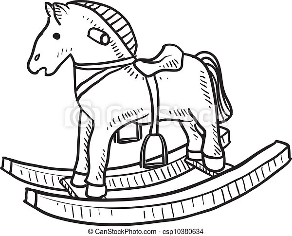 Rocking Horse Clipart And Stock Illustrations 3653 Rocking Horse