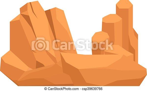 Rocks and stones vector illustration - csp39639766