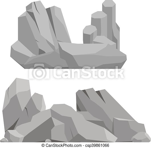 Rocks and stones vector illustration - csp39861066