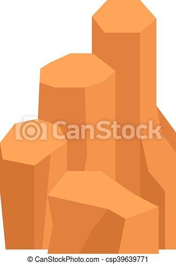 Rocks and stones vector illustration - csp39639771
