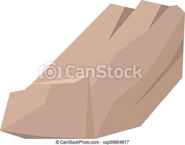 Rocks and stones vector illustration - csp39904817