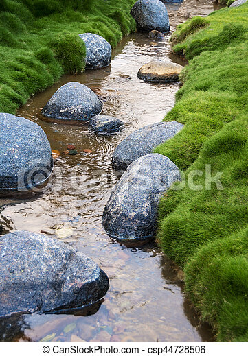 Rocks in a Creek - csp44728506