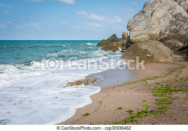 Rocks in Black sea, Turkey - csp30936462