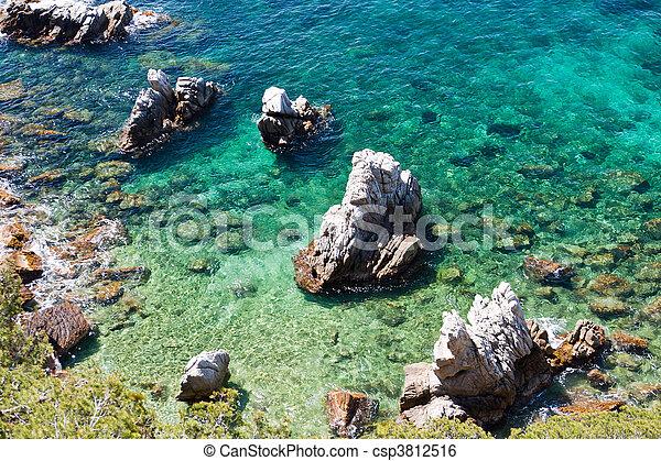 Rocks in blue water - csp3812516