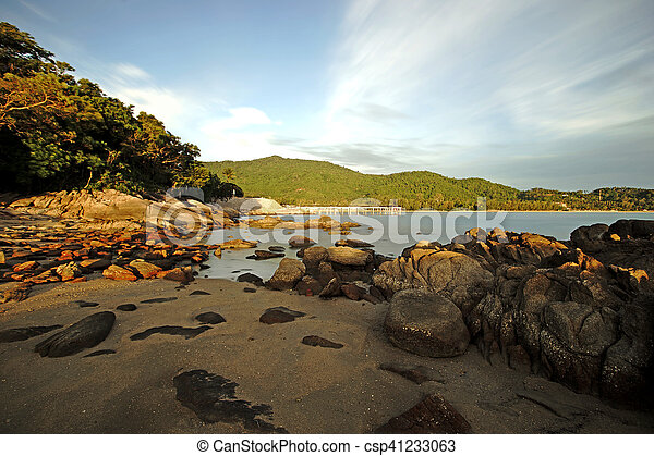 rocks in calm sea - csp41233063