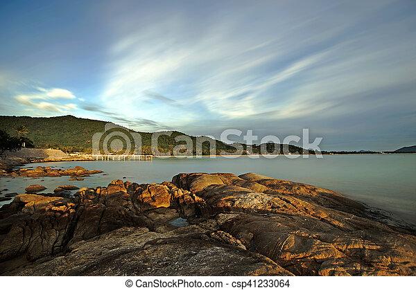 rocks in calm sea - csp41233064