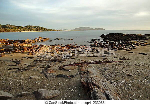 rocks in calm sea - csp41233066